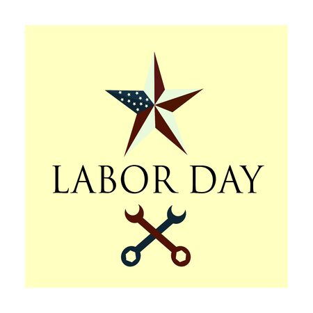 Labor day graphic event emblem