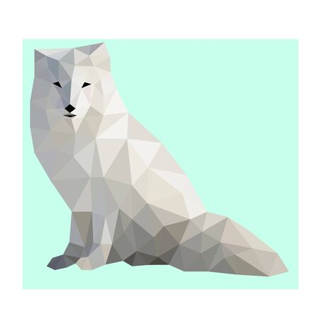 Low poly wild vector polar fox