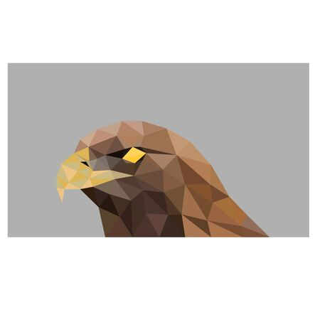 Low poly illustration of brown eagle Ilustracja