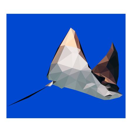 Colorful polygonal style design of devil-fish Ilustracja