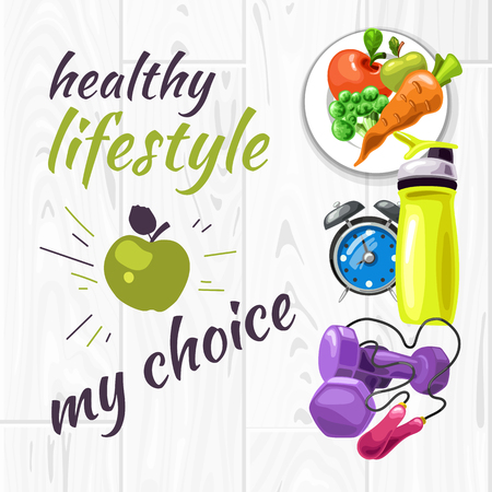 Poster shows rules for healthy lifestyle