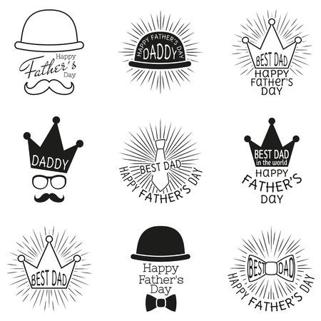 persona feliz: Padres etiquetas día. ilustración vectorial