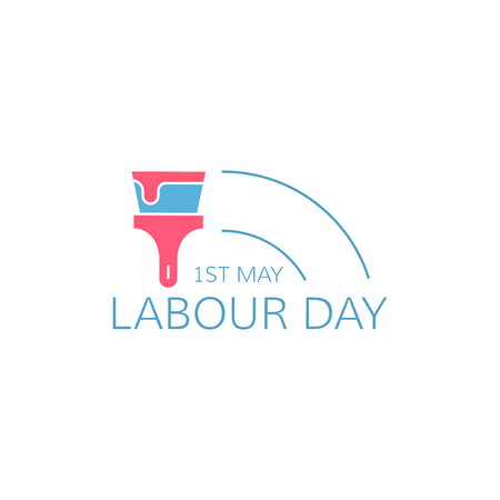 Labour day concept. Paint brush on white background. Vector illustration. Ilustracja