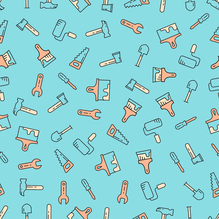 Tools seamless pattern. Vector background.