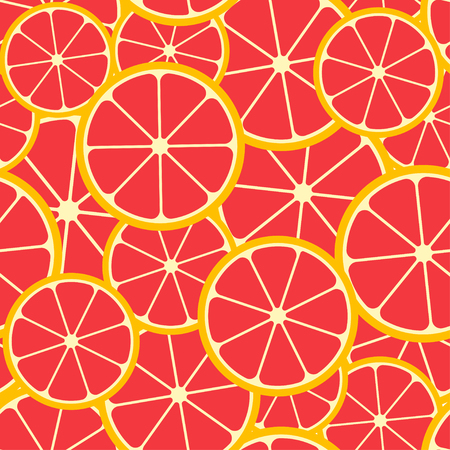 Citrus seamless pattern. Seamless pattern of grapefruit slices. Fruit collection. Vector background EPS 8. Ilustracja