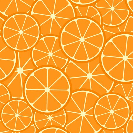 Citrus seamless pattern. Seamless pattern of orange slices. Fruit collection. Vector background EPS 8. Ilustracja