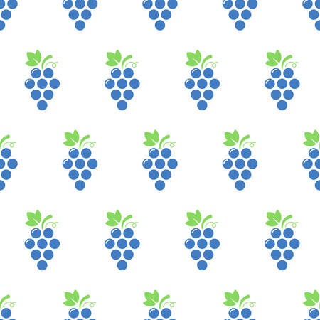 Grapes seamless pattern. Bunch of grapes. Vector background.