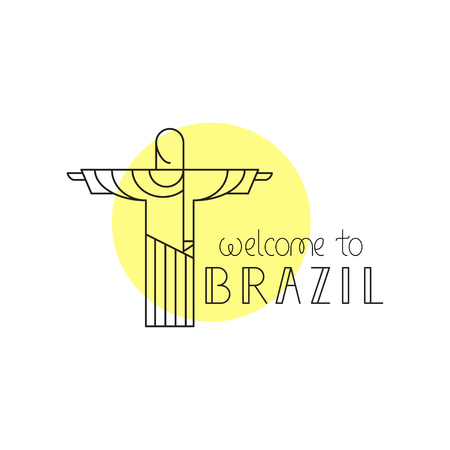 crist: Welcome to Brazil concept. Vector illustration