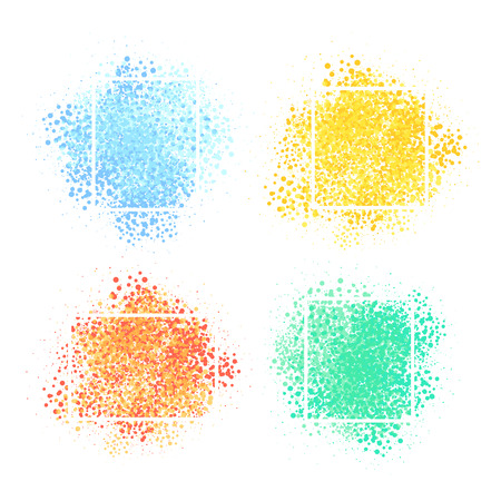 Abstract background. Vector set of colorful bursts with frames.