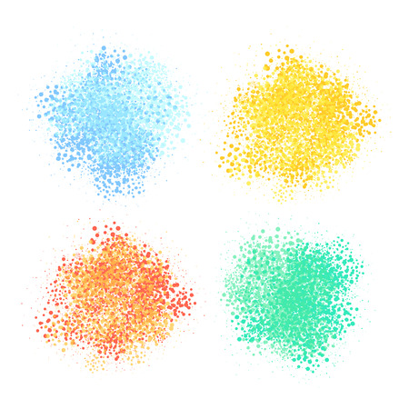 Abstract background. Vector set of colorful splashes.