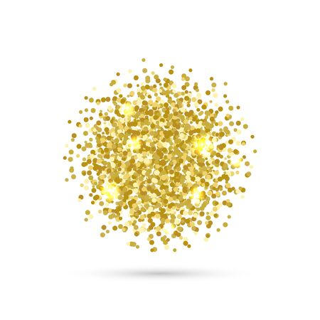 Vector background with confetti. Gold confetti on white background. EPS 10. Ilustracja