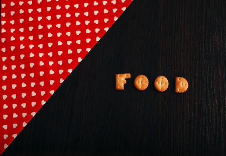 protien: background, cloth, cookies. The concept of background and food.