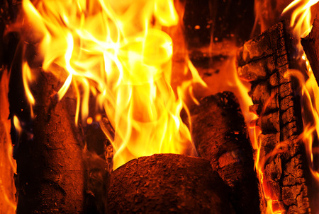 Fire. Background. Element. The concept of nature. Stock Photo