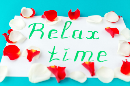 Background with RELAX time. The concept of rest, flying, lifestyle Stock Photo