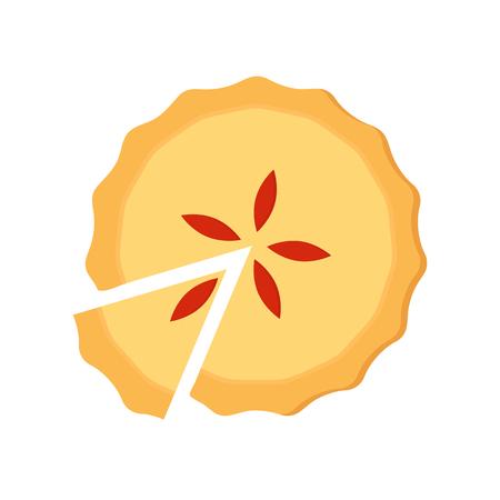 Zelfgemaakte gesneden taart met fruitvulling. Stockfoto - 81571328