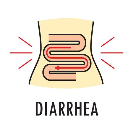 Diarrhea or food poisoning. Logo or icon