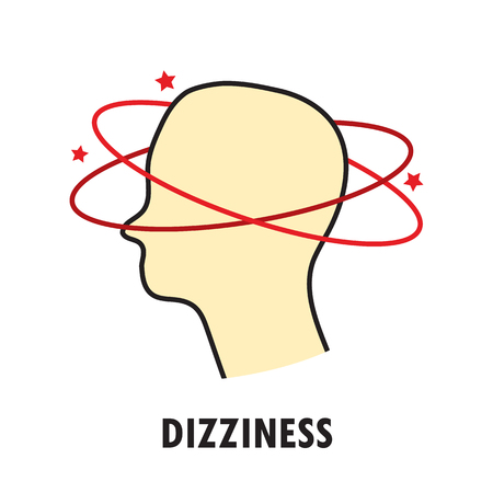 Dizziness. Logo or icon template