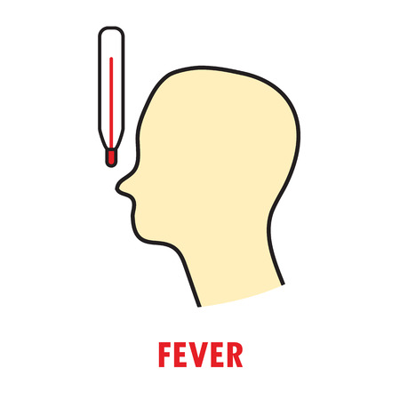 Fever or heat. Logo or icon template Illustration