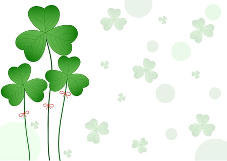 Nice  lucky clover  for patricks day Vector