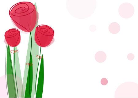 drie mooie rode bloemen