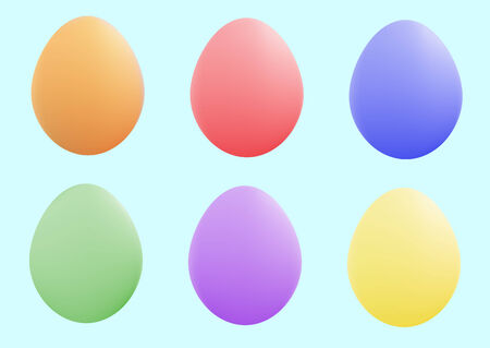 small group of objects: colored and pretty  easter eggs