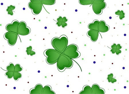 patrik background: Nice  lucky clover  for patricks day Illustration