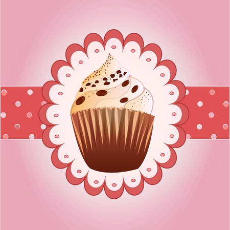 cranberries: cranberries cupcake on the  background
