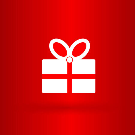 Nice and funny present on the red background Vector