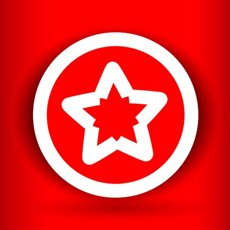 Nice  star on the red background Vector