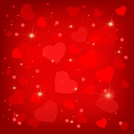 valentines holiday: Many pretty red valentines hearts