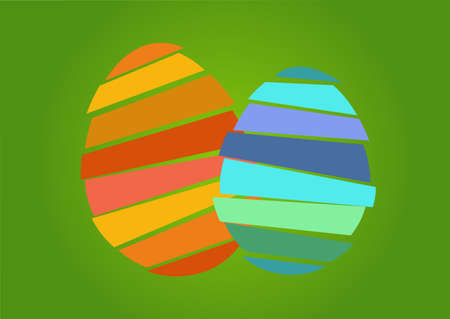 large group of object: two nice and pretty easter egg