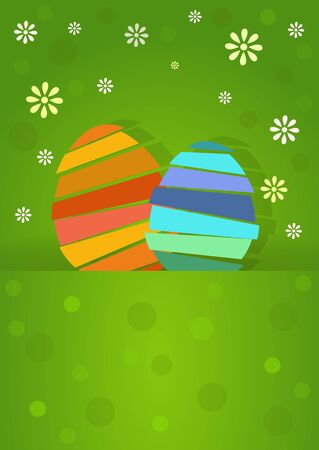 large group of object: two nice and pretty easter eggs