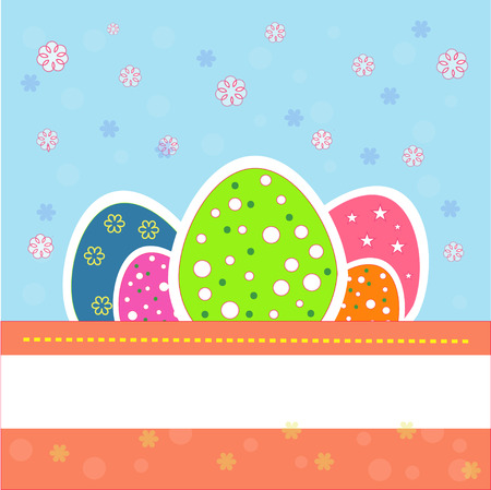 large group of object: Pretty and nice colored easter eggs