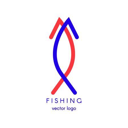 Fishing, spearfishing vector logo design template. Fishing Hook. Sport icons.