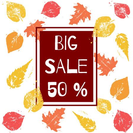 Stylish Big Sale poster, banner or flyer design with discount offer. Illustration