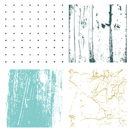 Set Texture. Wall Background. Vector Illustration. Simply Place illustration over any Object to Create grungy Effect abstract,splattered , dirty,poster for your design. Ilustração Vetorial