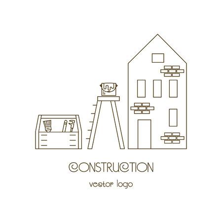 house logo: House Building Real Estate Vector Logo Template