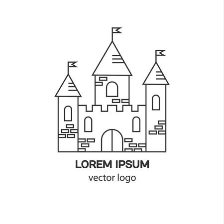 Château, forteresse, médiéval logo vecteur château. Tour de l'architecture icône. Logo pour votre entreprise. Logo