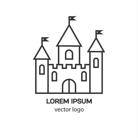 fortress: Castle, fortress, medieval castle vector logo. Tower architecture icon. Logo for your business.