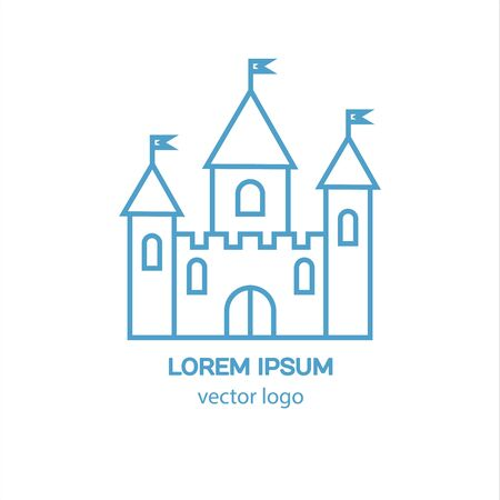 Castle, fortress, medieval castle vector logo. Tower architecture icon. Logo for your business.