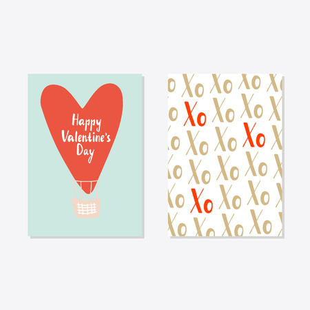 Valentines day set cards. Calligraphy, lettering  and hand drawn design elements. Illustration
