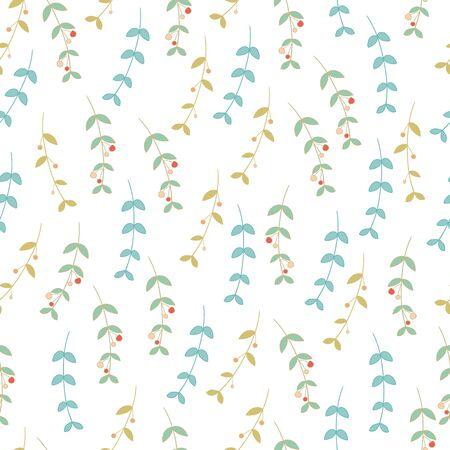 Trendy naadloze bloemmotief op vector in doodle stijl.