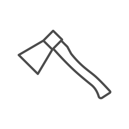 Vector line style icon with ax. Vector illustration on white background.