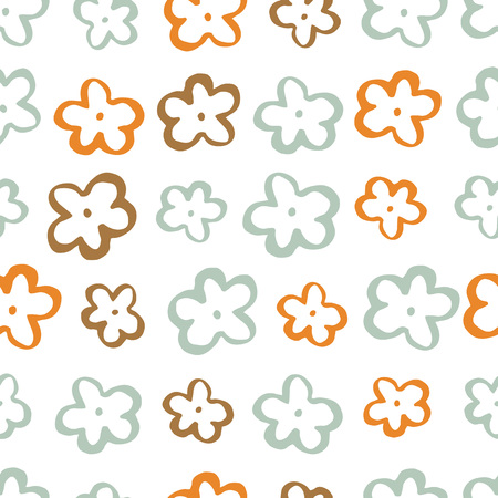 Set of seamless vector patterns. Hand-drawn textures.