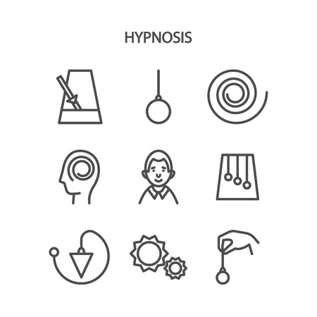 metronome: Hypnosis concept. Mind control. Vector illustration flat design. Isolated on background. Illustration