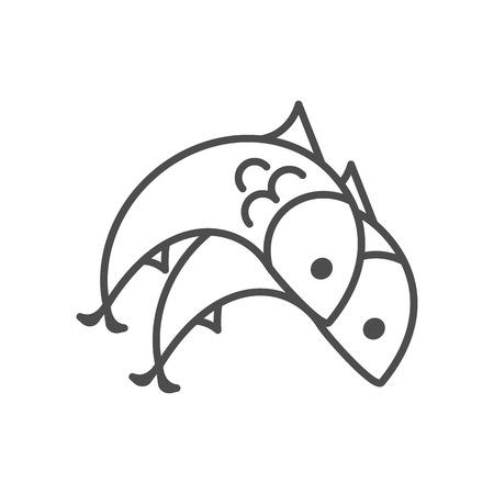 Sjabloon symbool dierenriem Stock Illustratie
