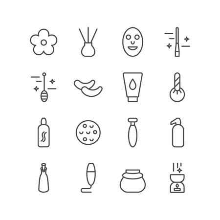 Spa icons set.