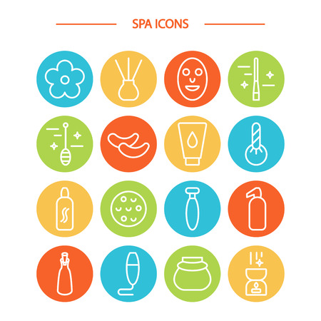 Spa icons set. Stock Vector - 83613656