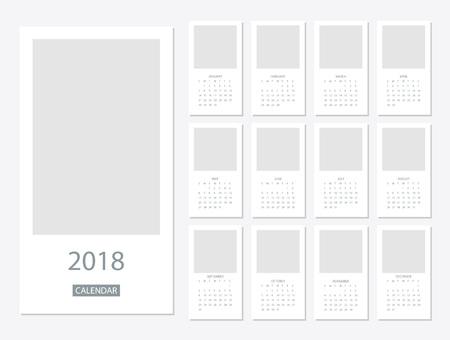 2018 Calendar template Stock Vector - 86748687