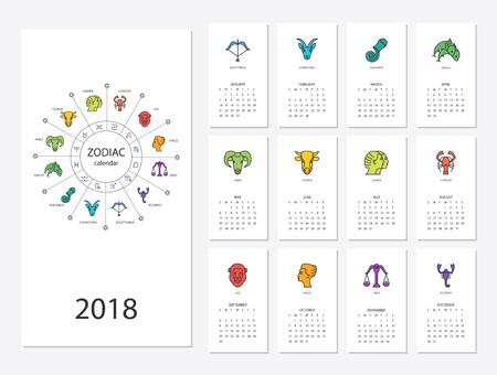 Calendar 2018 template Çizim